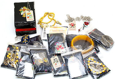 ED HARDY WHOLESALE MIXED LOT OF JEWELRY  ~ 100  pieces  all w/ COA ~