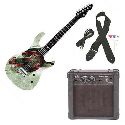 Peavey Rockmaster Full Size Dc Man Of Steel Superman Electric Guitar & Amp Pack