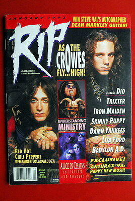 Black Crowes Cover Kiss Poster '93 Megadeth I.maiden Dio Motorhead Rip Magazine