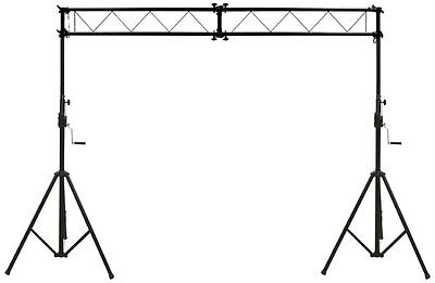 Pro Audio DJ Light Lighting Portable Truss Trussing W/ 10 Foot Crank Stands New