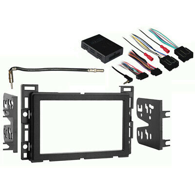Fits Saturn Sky 2006-2009 Double DIN Stereo Harness Radio Install Dash Kit