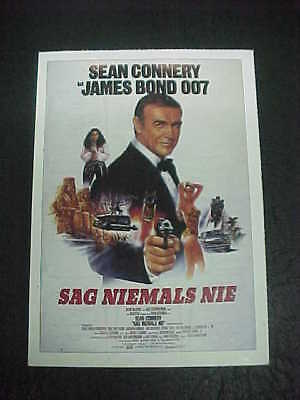 NEVER SAY NEVER AGAIN, film card (Sean Connery as 007)