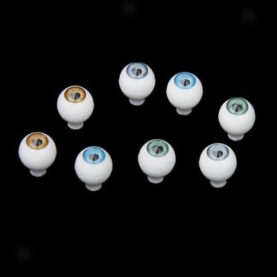 8PCS 10mm Round Acrylic Doll Eyes Bear Animal Puppet Eyeballs Craft DIY