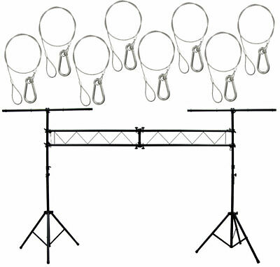 DJ Pro Light Trussing 10 Foot Portable Truss Lighting System (8) Safety Cables