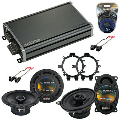 Chevy Silverado Pickup 99-06 Speaker Upgrade Harmony R65 R46 & CX300.4 Amp