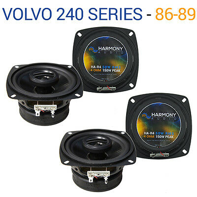 Volvo 240 Series 1986-1989 Factory Speaker Upgrade Harmony (2) R4 Package New