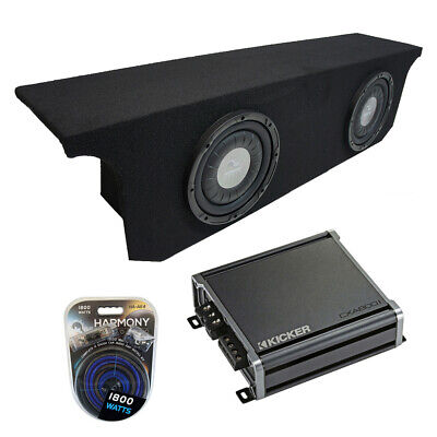 Compatible with 2007-2015 Jeep Wrangler JK Unlimited Rockford Prime R1S412 Dual 12 Sub Box Enclosure /& R2-250X1 Amp