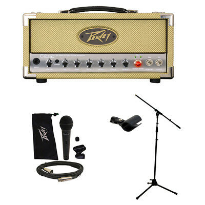 Peavey Classic 20 MH Micro Head Electric Guitar Amp w/ Mic & Stand Package New