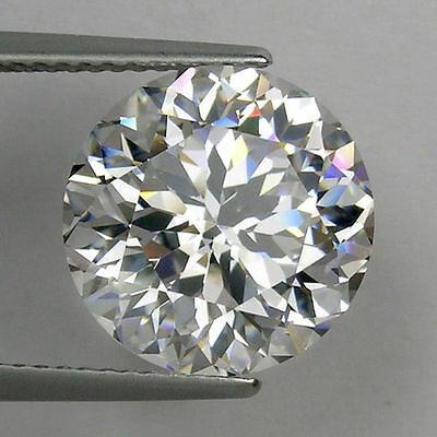 IF Round Colorles White (D-F) Russian Lab Made Diamond AAAAA SUN