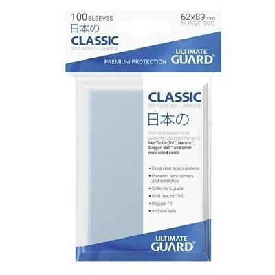 Ultimate Guard 100 Mini Size Classic Soft Deck Protector Sleeves Clear UGD010069