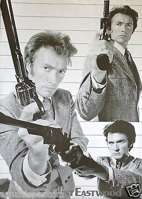 """Clint Eastwood """"dirty Harry Callahan Holding 44 Magnum"""" Asian Commercial Poster"""