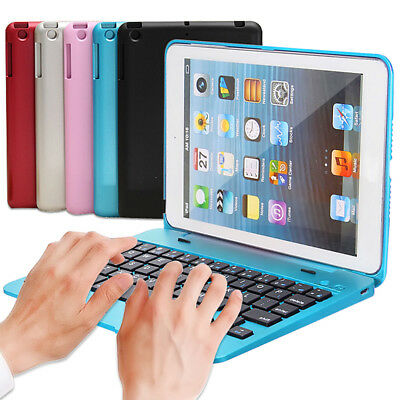 For Apple iPad Mini 4 Folio Rechargeable Bluetooth 3.0 Keyboard Smart Case Cover