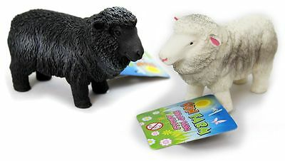 Stretchy Beany Farm Animal Stress Reliever Squishy Toy ~ Sheep Colour Vary