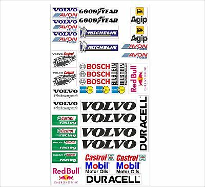Volvo Logo Autoaufkleber Sponsoren Marken Aufkleber Decals Tuning Sticker Set