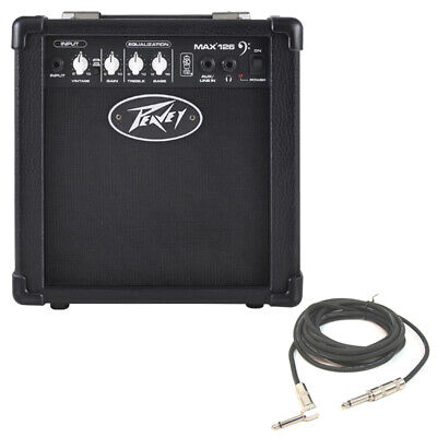 """New Peavey Max 126 Combo Amp 10W 6.5"""" Bass Guitar Amplifier & 1/4"""" Cable Package"""