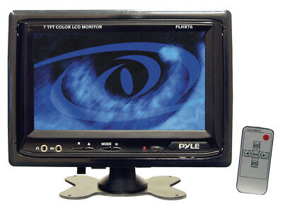 "Pyle Car Audio PLHR76 New 7"" Tft / Lcd Video Monitor W/ Headrest Shroud & Stand"