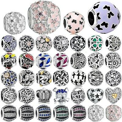 925 sterling silver Hollow out Openwork charms bead For European PAN bracelet AU