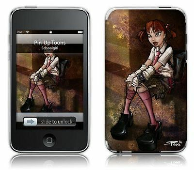 MusicSkins Sticker pour iPod touch 2G/3G Pin-Up Toons Schoolgirl  NEUF