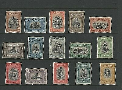 Portugal, Postage Stamp, #422-436 Mint Hinged Set, 1927