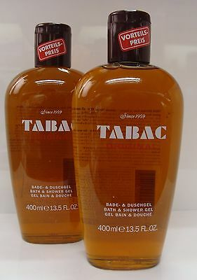 2 x 400ml TABAC ORIGINAL BATH & SHOWER GEL MULTI-BUY