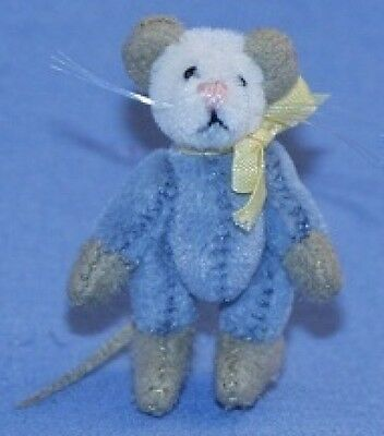 Deb Canham Dollhouse Collection Charlie Blue Mouse - LE 1000