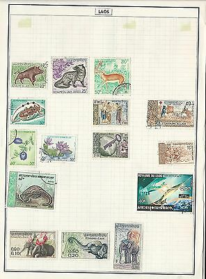 Laos Collection on 10 Pages, Nice Lot To Pick Through
