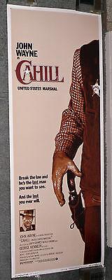 CAHILL UNITED STATES MARSHAL original 1973 ROLLED 14x36 movie poster JOHN WAYNE