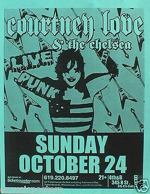 COURTNEY LOVE & THE CHELSEA 2004 SAN DIEGO CONCERT TOUR POSTER - Hole