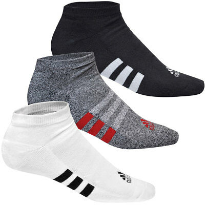 Adidas Golf 2017 Mens No Show - Basic Socks - 3 Pair Pack