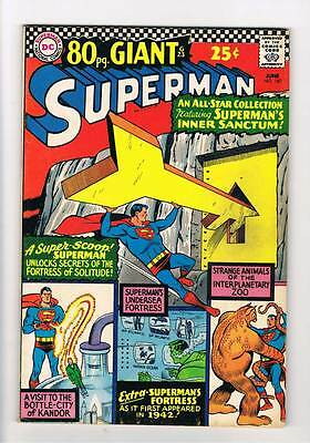 Superman # 187  80 page giant  grade 7.5 scarce book !!