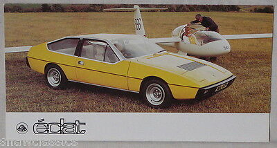 LOTUS ECLAT - October 1976 - Six page fold out colour brochure & specification