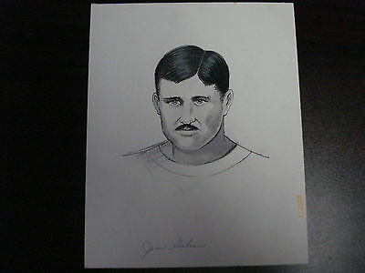 Vintage Pud Galvin The Sporting News Original Art Authentic Sketch