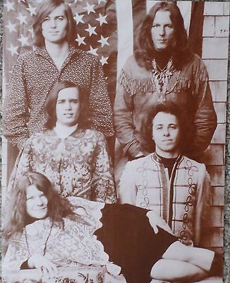 Janis Joplin and The Big Brother Holding Co. Group Shot Sepia Poster