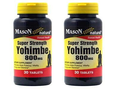 ( PACK OF 2 ) 60 capsules YOHIMBE 800 mg SEXUAL TESTOSTERONE herbal