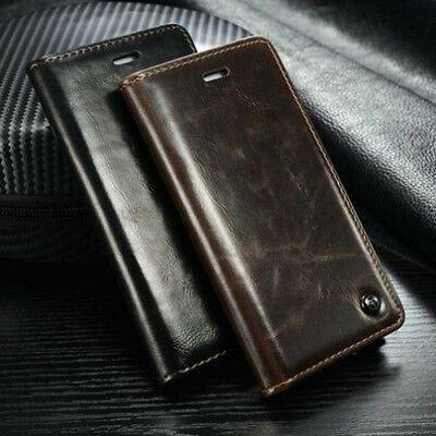 For iPhone XS Max Xr 8 7 6 PU Leather Flip Cover Wallet Card Stand Magnetic Case