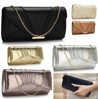 Wedding Bridal Clutch Envelope Bag Ladies Women's Evening Bag Purse Handbag 306