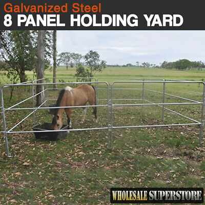 8 Panel Horse Float Holding Yard or temporary Round Yard - Portable