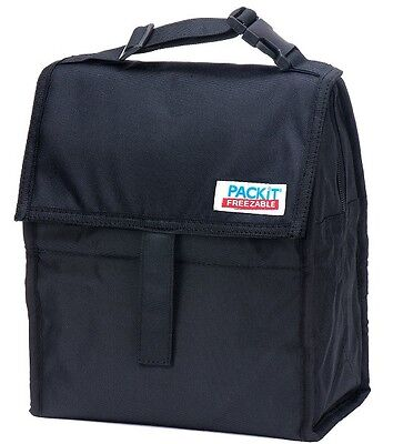 PackIt Freezable Black LunchTotes