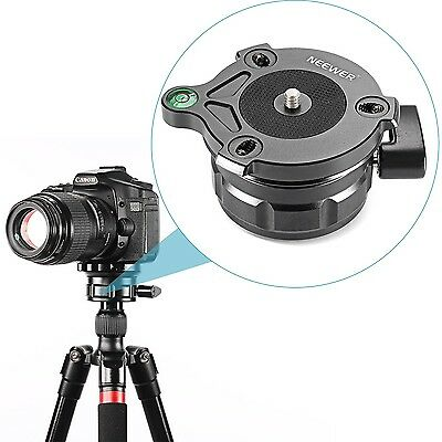 Neewer Tripod Leveling Base with Offset Bubble Level for CanonNikonand Other ...