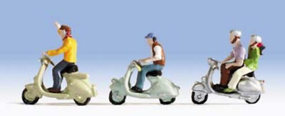 Noch 15910 Scooter Drivers ( & Scooters ) HO Figures Set