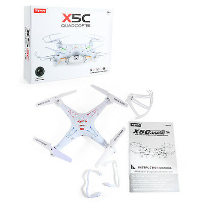 Syma X5C 2.4Ghz 4CH 6-Axis Gyro RC Quadcopter Drone RTF UAV UFO Airplane White