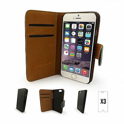 Real Genuine Leather Flip Wallet Slim Case Cover For New Apple iPhone 6 Plus
