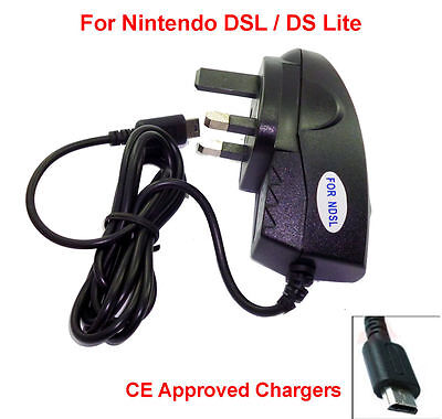 Nintendo Mains Charger For DS Lite NDS-L NDSL DSL Adapter Power Supply Wall Plug