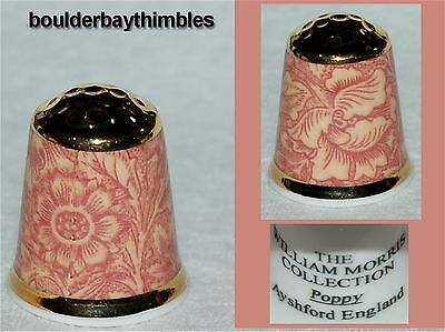 """THE WILLIAM MORRIS  COLLECTION """"POPPY"""" Thimble Ayshford, England NEW"""