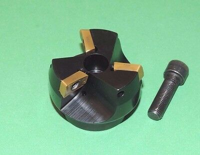 """NEW DORIAN 2"""" Indexable 75° Face Mill Coolant Fed w/ Inserts (F75A-200-AP16-075)"""