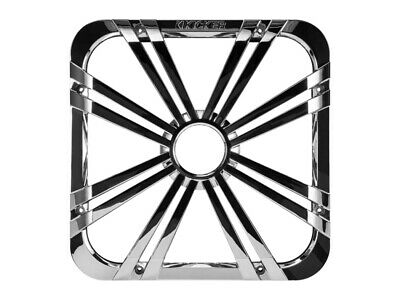 "Kicker 11L712GLCR 12"" Square Solo-Baric L7 Subwoofer Chrome Grill W/ Accent Leds"
