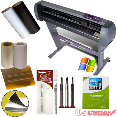 "BEGINNER DECAL BUNDLE  28"" Vinyl Cutter for Signs Stickers + Design Cut Software"