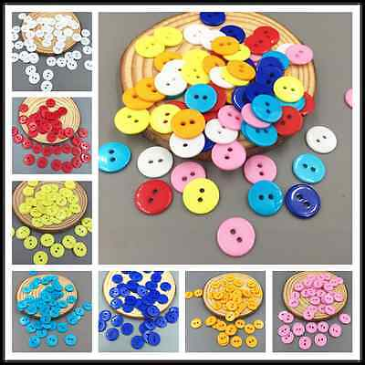 200pcs Various colors Resin Button Fit Sewing Scrapbook Decorative craft 13mm