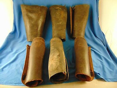 Leather spats leg guards World War I US Calvary leggings 3 pairs collectible WWI
