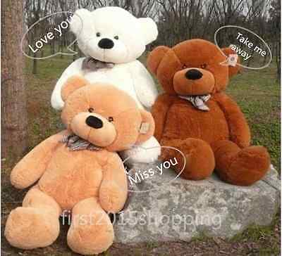 60-300cm Big Teddy Bear Semi-Finished Plush Doll Cover (Without Cotton) Gift New